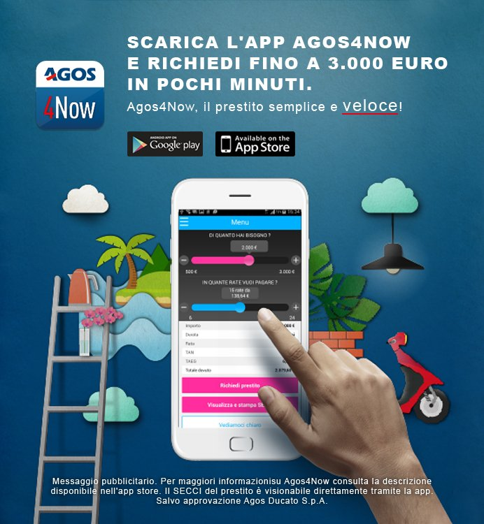 Scarica l'App Agos4Now
